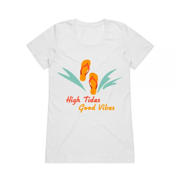 Beach slogan t-shirt for women